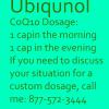 ubiquinol dosage coq10