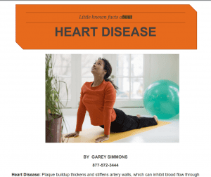 little known facts about heart disease